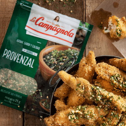 Chicken fingers con provenzal